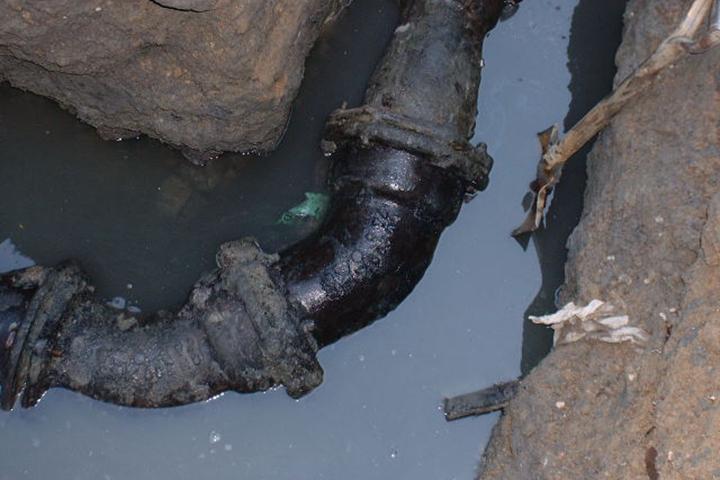 埋設されたガス管