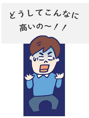 どうしてこんなに高いの~!!
